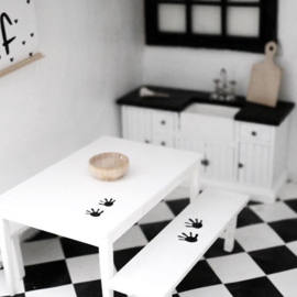 Keuken | mini stickers |  | Dieren pootjes