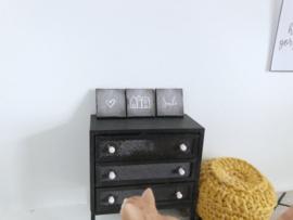 Woonkamer | krijtbord | 3 luik | à 1,5 cm