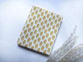 Textiel | beddengoed | 2 persoons matras | oker geel leaves
