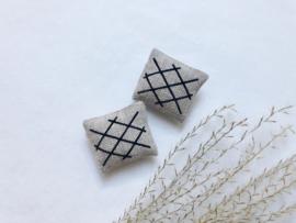 Textiles | set of 2 | Black stripes