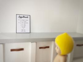 Wanddecoratie | Posters | Appeltaart recept.