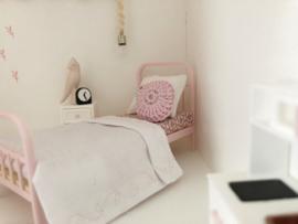 Mini Tipi | Gehaakt | rond kussentje | roze