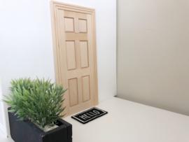 Woonkamer | houten voordeur | dicht