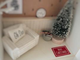 Feestdagen | Kerst | deurmat | rood + wit | Merry Christmas