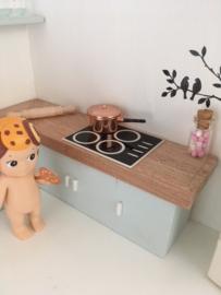 Keuken | koperen Steelpan met deksel | 2 cm