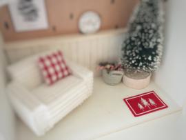 Feestdagen | Kerst | deurmat | rood |  3 trees