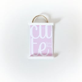 "Wanddecoratie | Posters | ""Cute little thing"" pink"