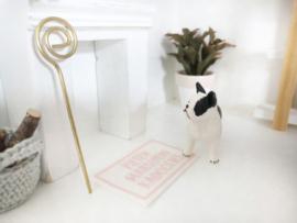 Feestdagen | Sinterklaas | deurmat | wit | roze tekst
