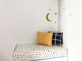 Textiel | Kussentje  | 4 x 5 cm | oker geel + witte dots