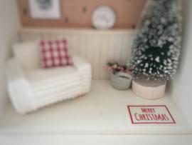 Feestdagen | Kerst | deurmat | wit + rood | Merry Christmas