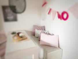 Mini Tipi | 3 x 5 cm kussentje | zacht roze