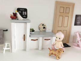 Keuken | Veerdesign | houten plank splash | 3cm