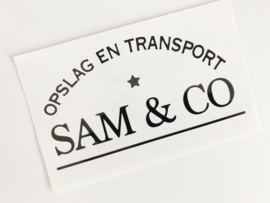 DIY Garage - Pakhuis | Sticker | opslag en transport