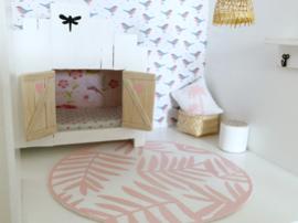 Vloeren | roze vloerkleed XL | ocean breeze | rond