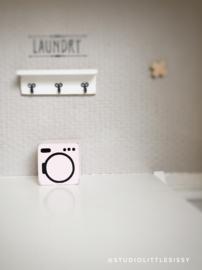 Bathroom | washing machine | pink
