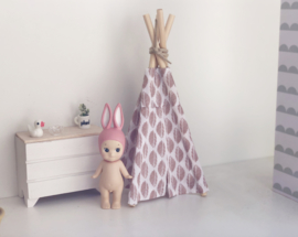 Mini-Tipi 18cm | Old pink leaves