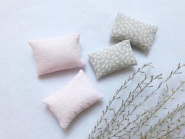Textiel | setje .v. 4 | roze & sand