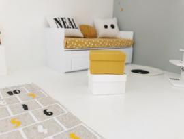 Werkkamer | opbergbox | oker geel