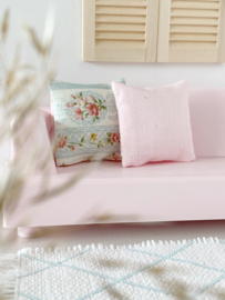 Textiel   kussens   4 x 4   Zacht roze