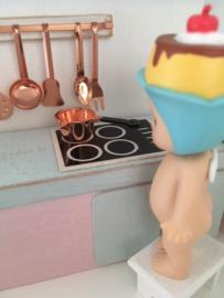 Keuken | Steelpan met schenktuit | koper | 1 cm