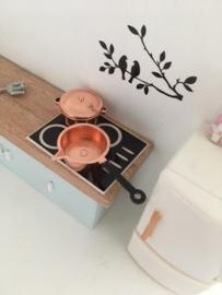 Keuken | Steelpan met schenktuit | koper | 2 cm