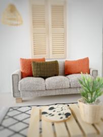 Textiel | kussens | 3 x 5 | Olijfgroen