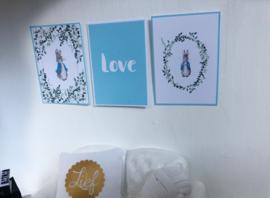 Wanddecoratie | Posters | Darling Prints | Peter Rabbit | 3 prints