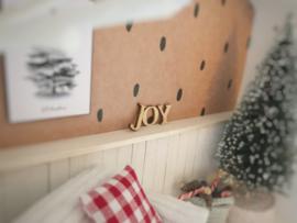 Feestdagen | Kerst | houten letters | Joy