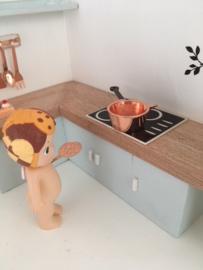 Keuken | Steelpan met schenktuit | koper | 1,5 cm