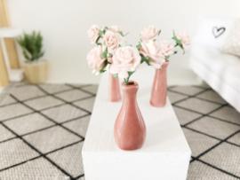 Bloemen & Planten | bol | terra vaas met roze bloemen