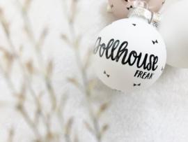 kerstbal sticker | Dollhouse Freak