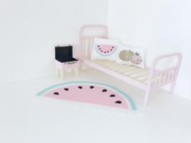 Slaapkamer | Textiel | set | vloerkleed en kussen watermeloen