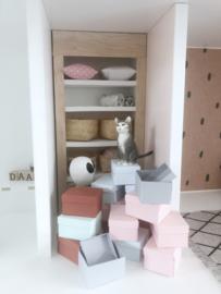 Werkkamer | opbergbox | roze
