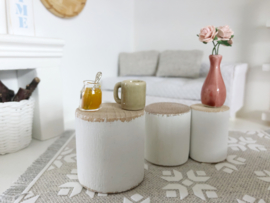 Livingroom | Sidetable small | white or pink