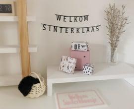Feestdagen | Sinterklaas | Sticker banner | welkom sinterklaas