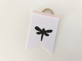 Wanddecoratie | Poster Flag  | roze | Libelle