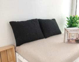 Slaapkamer Textiel   beddengoed   hoofdkussens   zwart