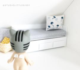 Textiel | beddengoed | 1 persoons matras | grijs