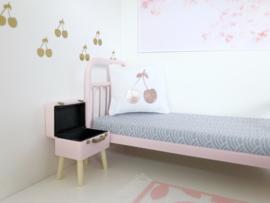 Textiel | Kussentje  | 4 x 5 cm | Wit + Rosé gold cherry