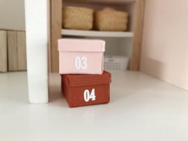 Werkkamer | opbergbox sticker | cijfers