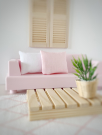 Textiel | kussens | 4 x 5 | Zacht roze