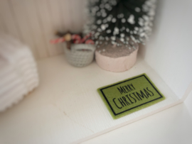 Feestdagen | Kerst | deurmat | groen + zwart | Merry Christmas