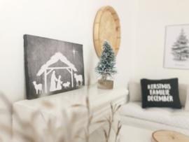 Feestdagen | kerst | krijtbord | kerststal