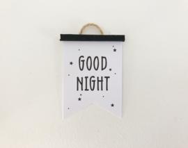 Wanddecoratie | Poster Flag  | zwart | Good night