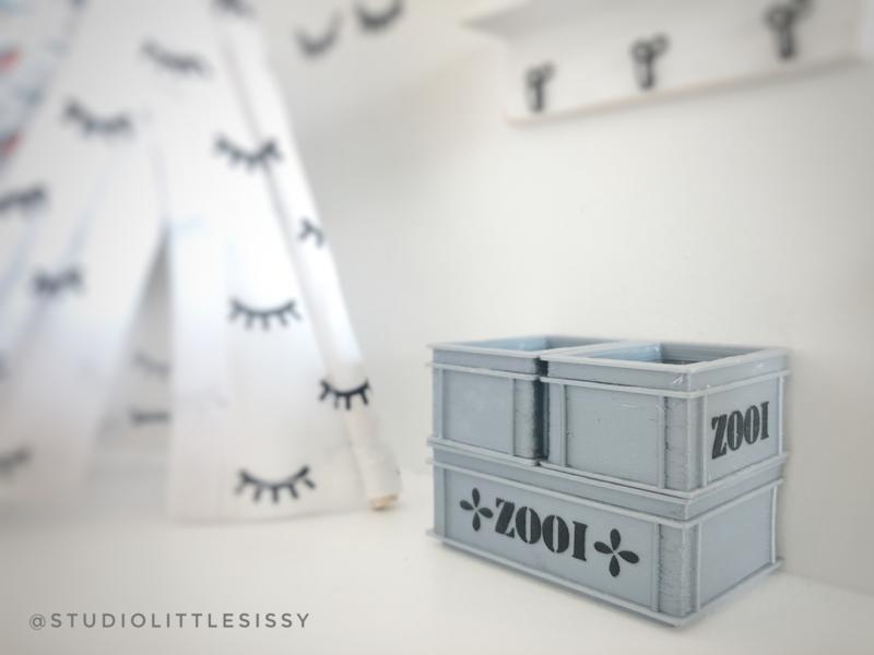 Slaapkamer | 3D | opruimbak XS Grijs