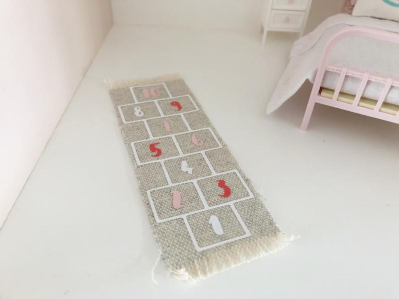 Slaapkamer   Vloerkleed hinkelbaan   meisjes