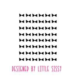 Slaapkamer | Mini stickers | strikjes logo
