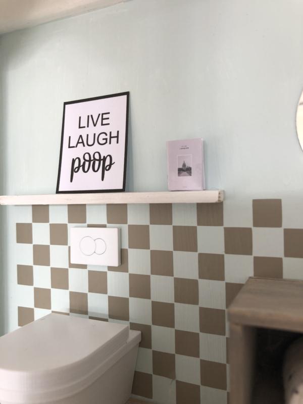 Badkamer | Poster | Live Laugh Poop.