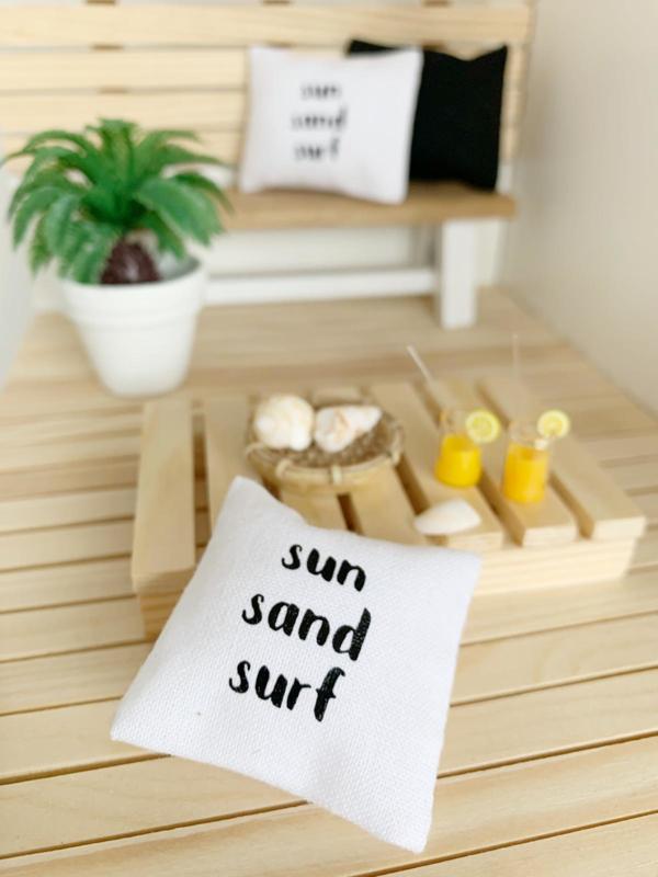 Textiel | kussens | 4 x 4 cm | sun sand surf.