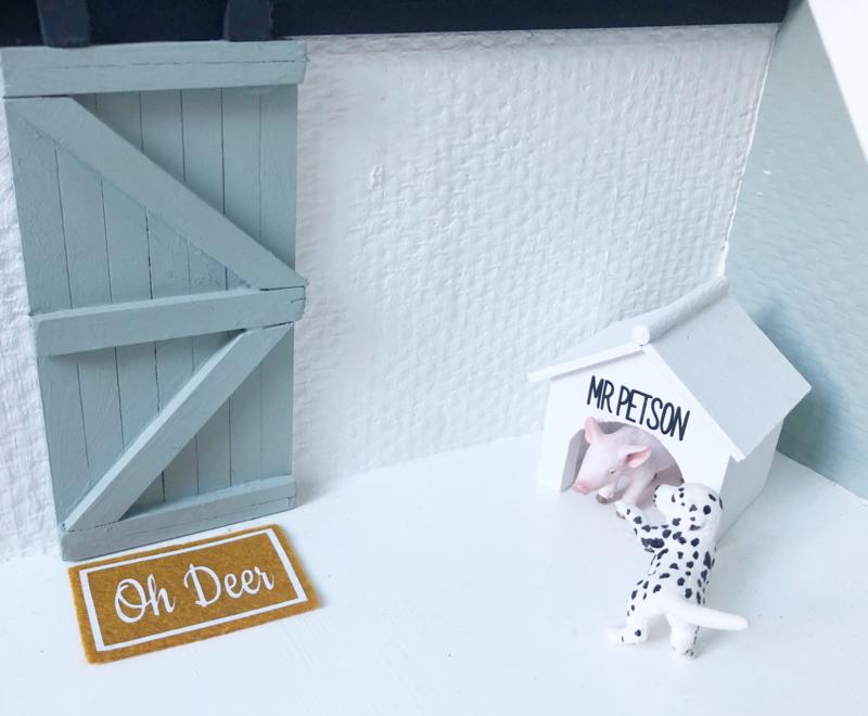 Feestdagen | Kerst | deurmat | oker geel | Oh Deer